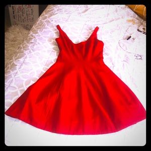 Betsy & Adam Fit & Flare red dress size 4